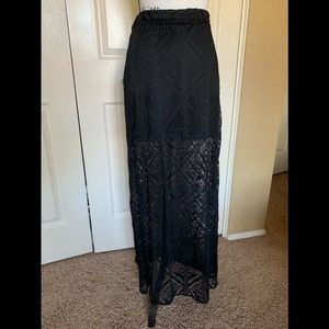 Black Lacey maxi skirt
